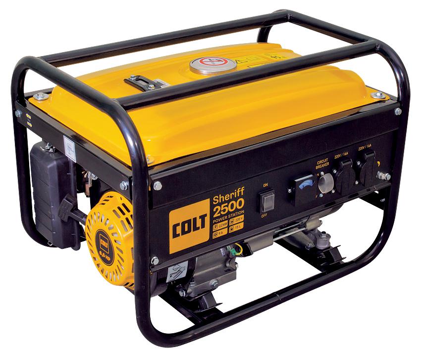 Бензиновый генератор Colt Sheriff 2500 желтый 499103