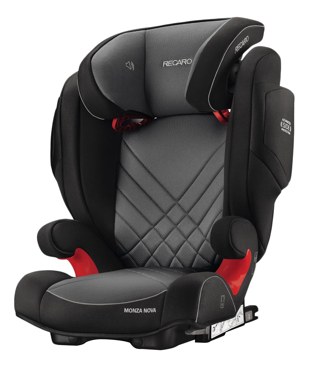 Купить Автокресло RECARO Monza Nova 2 Seatfix группа 2/3, Черный-Красный, Детские автокресла