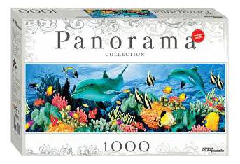 Пазл Step Puzzle Panorama. Подводный мир 1000 деталей