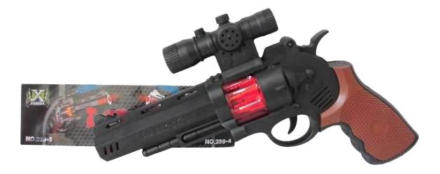 Купить Пистолет со световыми эффектами, 3 бат, типа AA (не входят), 27 x 20 x 5 см, Junfa toys, Игрушечные пистолеты