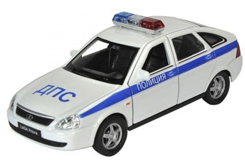 Модель машины Welly LADA Granta Полиция 43657PB 1:34