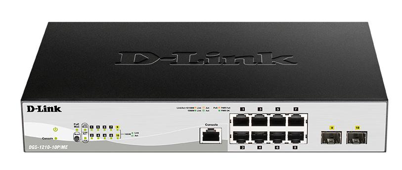 Коммутатор D Link DGS 1210 10P/ME/A1A Black