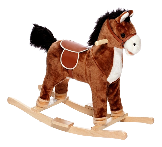 Качалка детская Shantou Gepai Лошадка 74 см коричневая, Качалки детские  - купить со скидкой