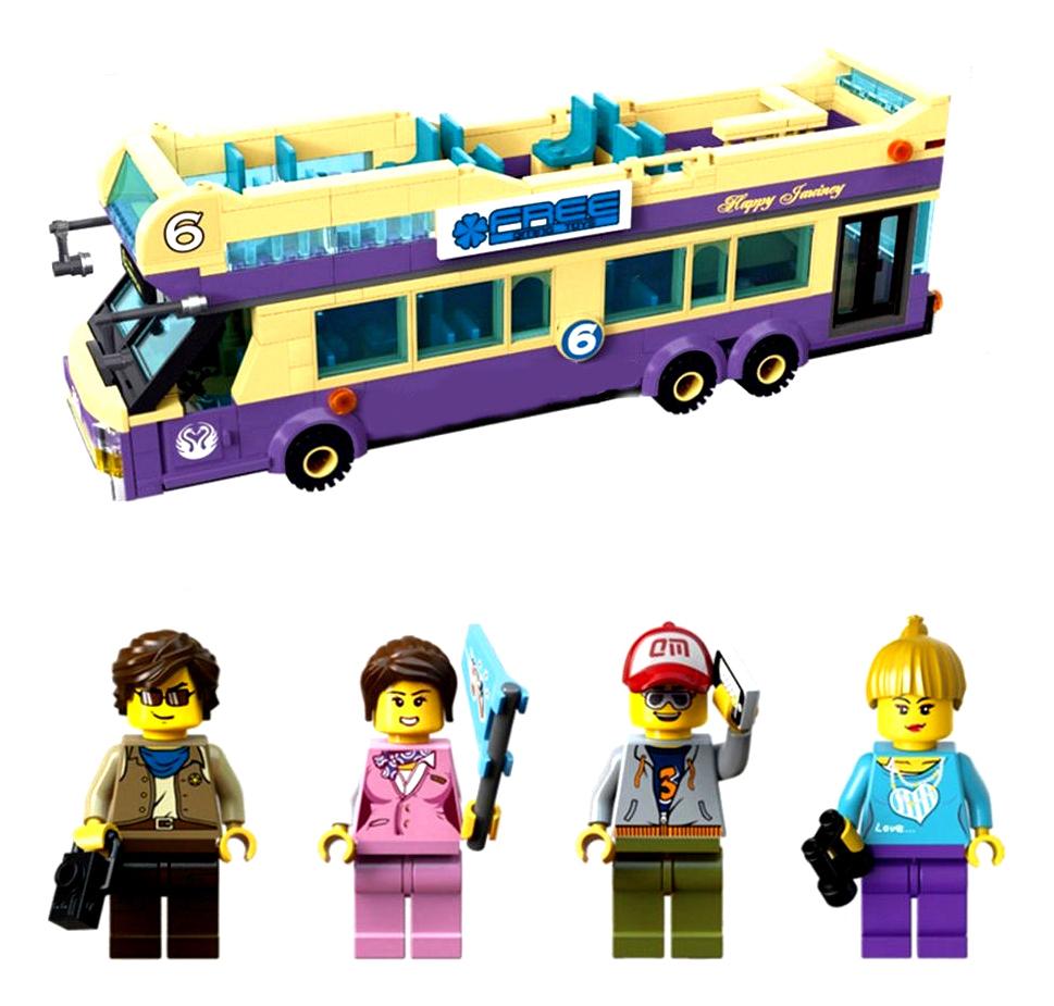 Brick Пластиковый конструктор туристический автобус 455 деталей Brick 1123 фото