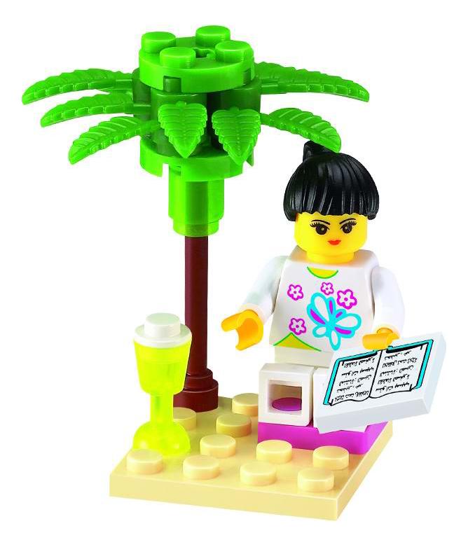 Конструктор пластиковый Brick Девочка с книгой