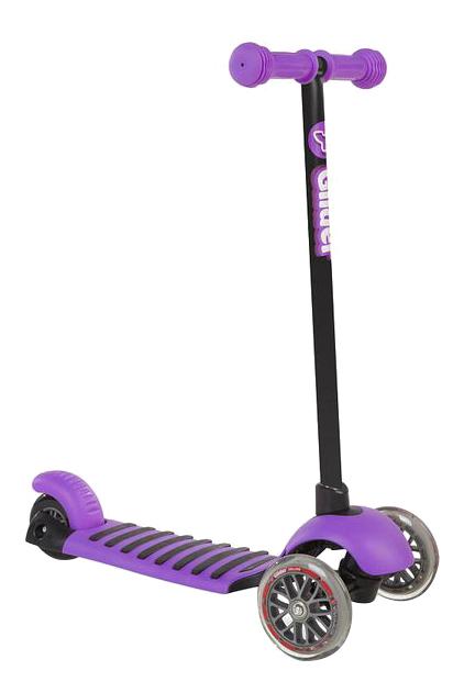 Купить Самокат трехколесный Glider Deluxe фиолетовый YVolution 100487,
