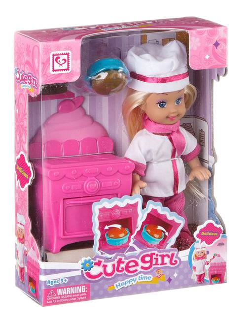 Игровой набор с куклой Милашка поваренок Gratwest Д78527 фото
