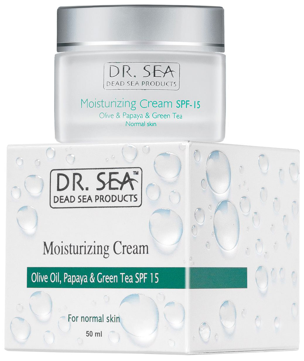 Купить Крем для лица Dr. Sea С маслом оливы, экстрактом папайи и зеленого чая SPF 15 50 мл