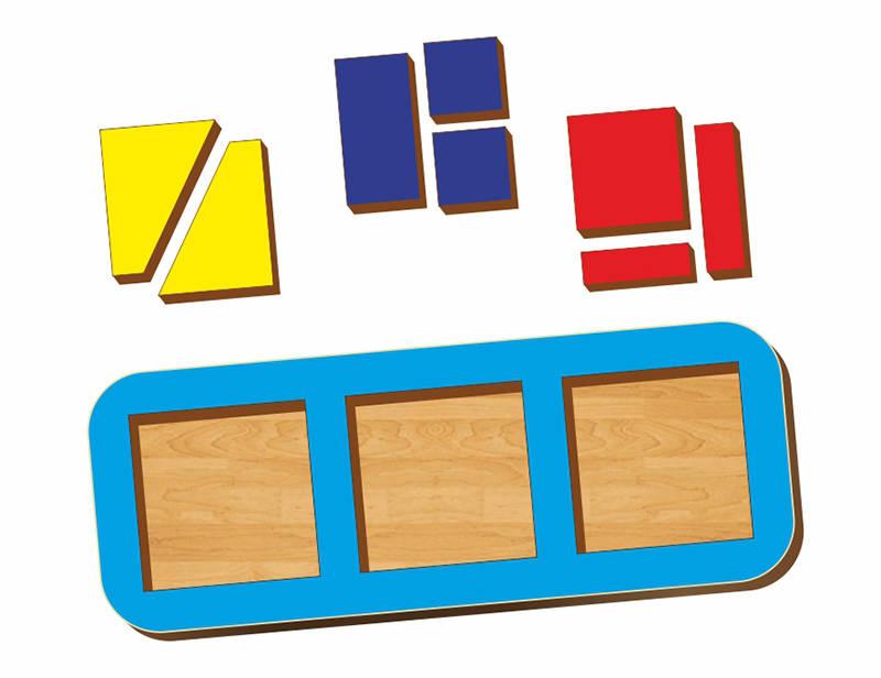 Купить Пазл Сложи квадрат, Б, П, Никитин, 3 квадрата, 240*90 мм, Сибирский сувенир, Пазлы