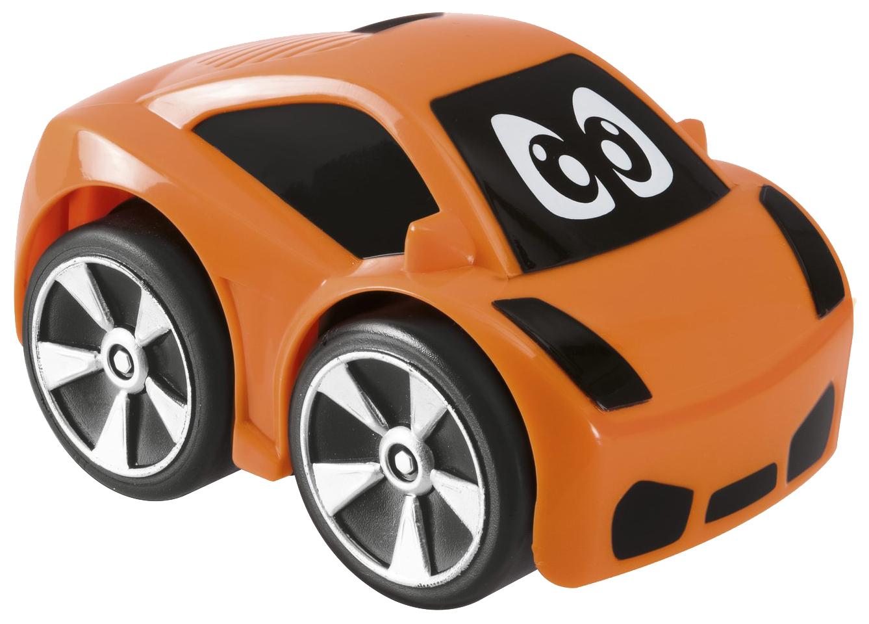 Машинка пластиковая Chicco Turbo Touch Oliver оранжевая, Игрушечные машинки  - купить со скидкой