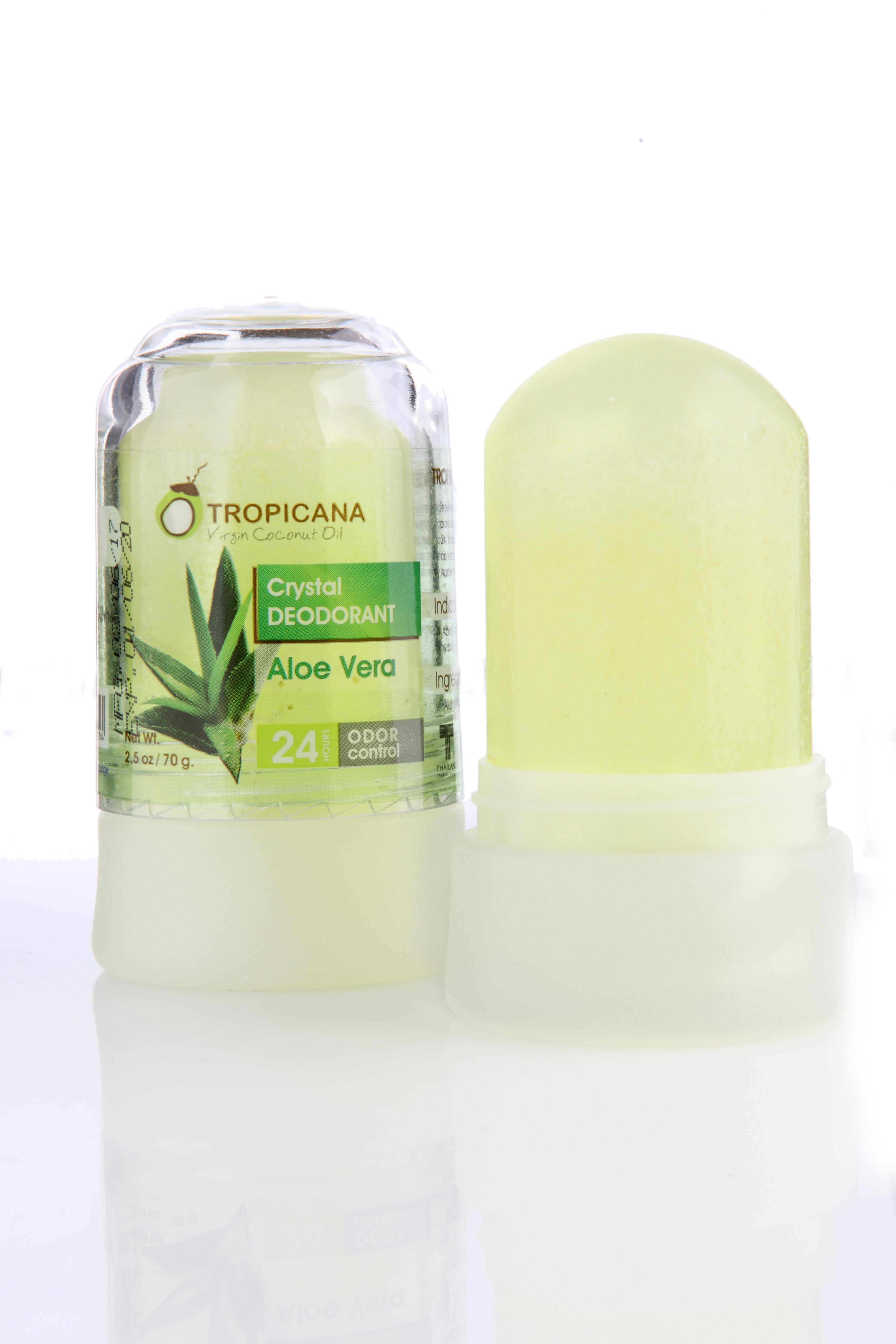 Натуральный дезодорант кристалл Tropicana с экстрактом Алое вера, 70 гр