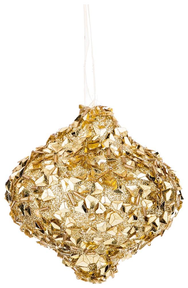 Елочная игрушка Lefard Шар Золотые блестки 749 128