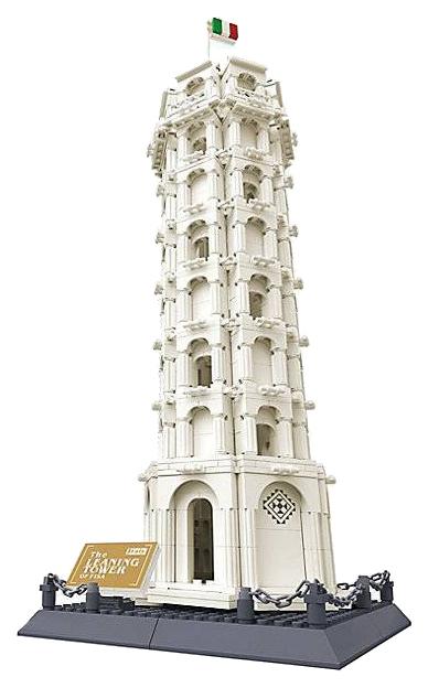 """Конструктор """"Пизанская башня"""", 1392 дет.  Wange"""