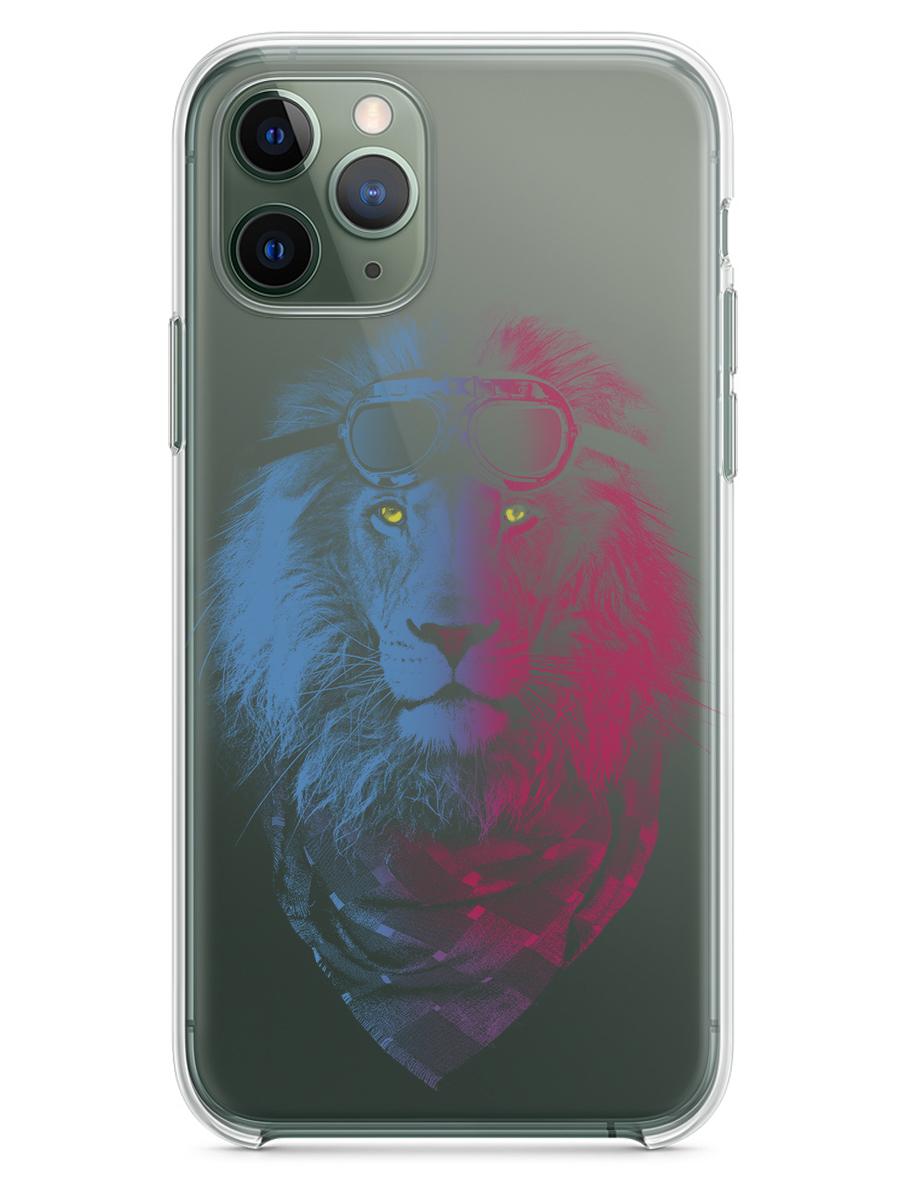 Чехол СМАКС Лев-негатив для Apple iPhone 11 Pro
