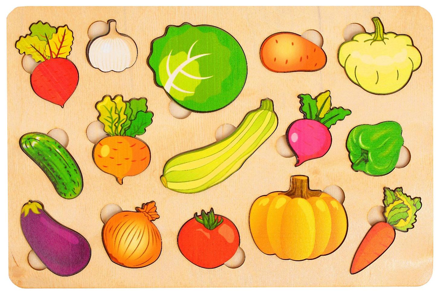 Развивающая доска «Большие овощи» Нескучные игры