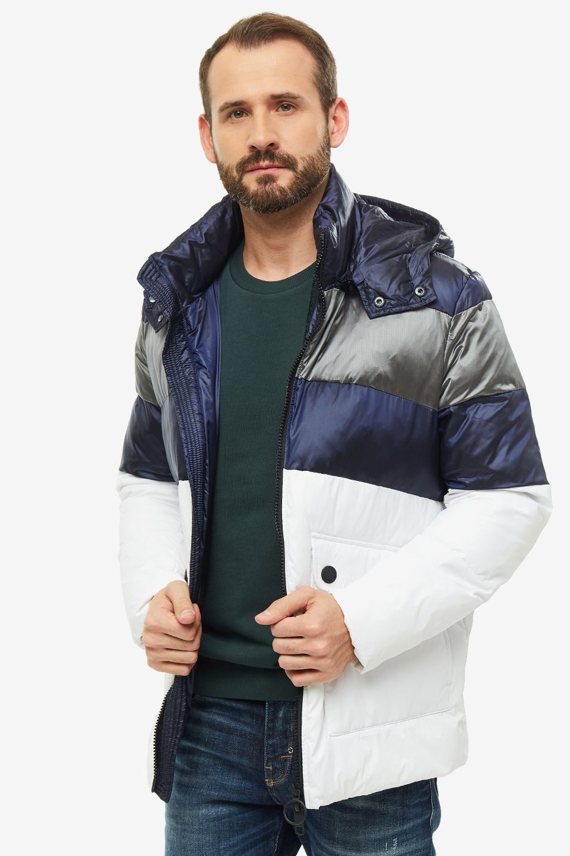 Куртка мужская Antony Morato MMCO00610-FA600054 1000 синяя 48 IT