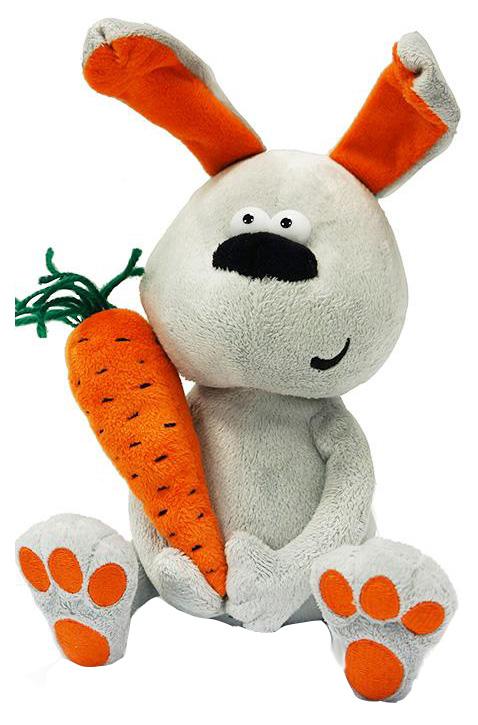 Купить Мягкая игрушка животное ДуRашки Заяц & Morkovka,