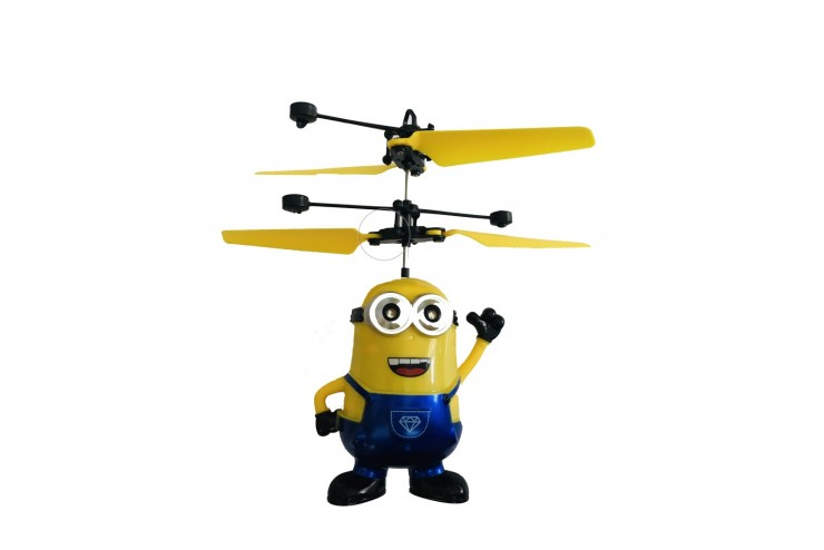 Радиоуправляемый летающий синий миньон Дэйв CS Toys