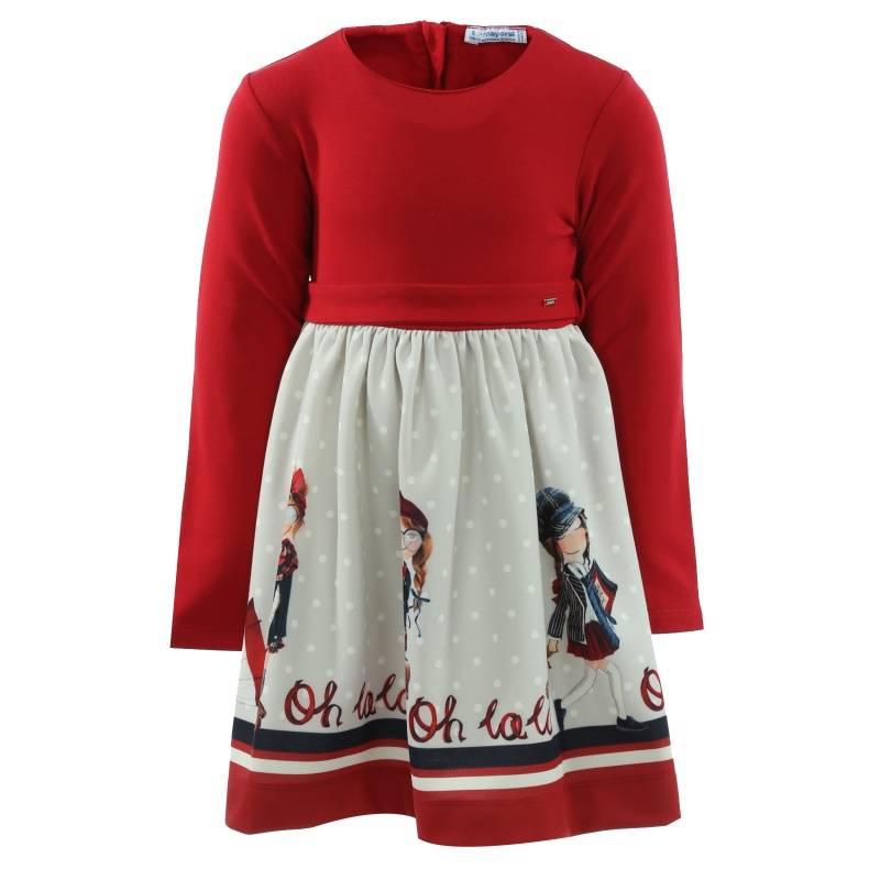 Платье MAYORAL, цв. красный, 128 р-р, Детские платья и сарафаны  - купить со скидкой