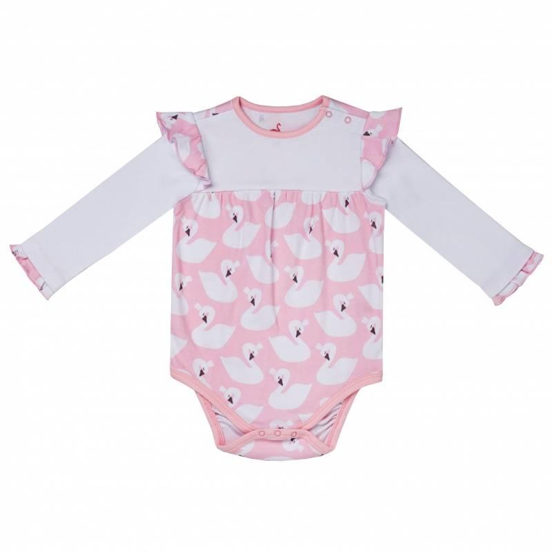 Купить Боди Diva Kids, цв. розовый, 56 р-р, Боди и песочники для малышей