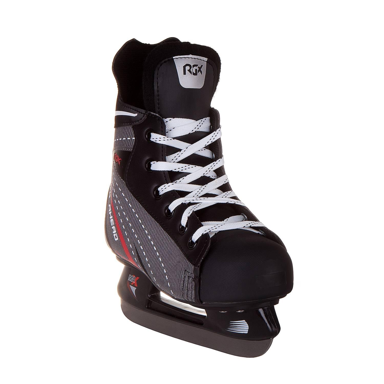 Коньки хоккейные RGX RGX-342 черные, 33 фото