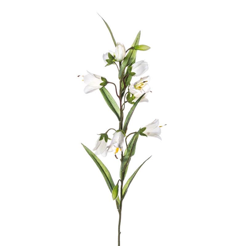 Искусственные цветы Silk-ka Колокольчик 69см, цвет белый