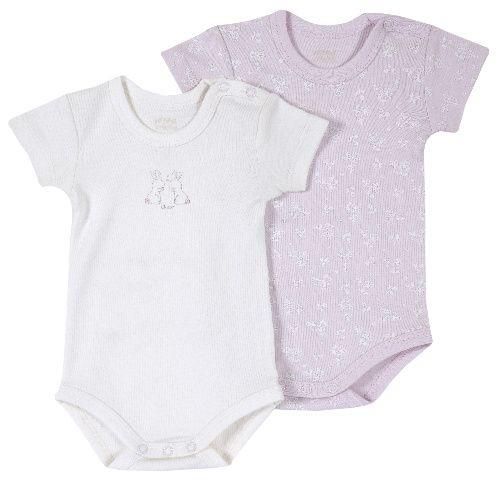 Купить 09011399, Комплект боди 2 шт. Chicco короткий рукав для девочек р.80 цв.розовый, Боди для новорожденных