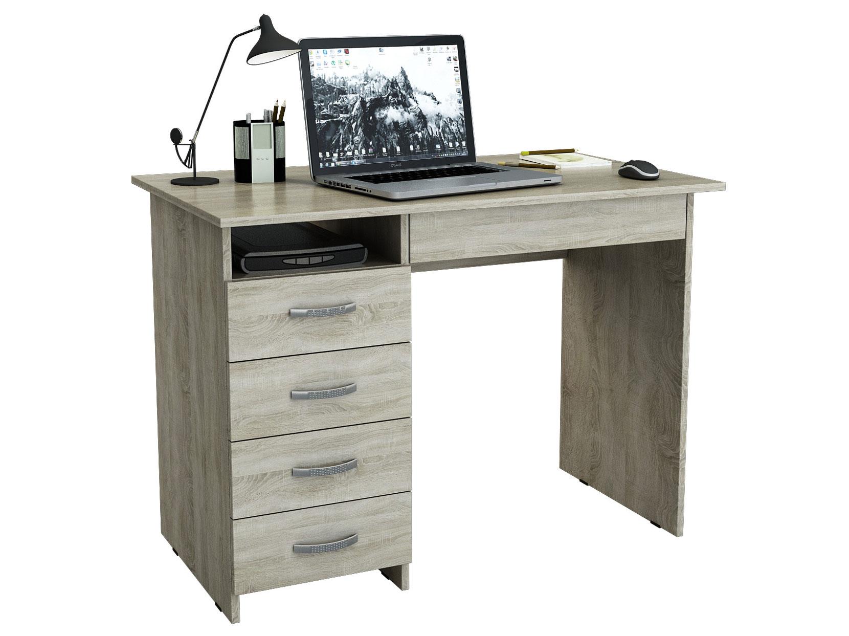 Компьютерный стол МФ Мастер Милан-1 110x60x75, дуб сонома