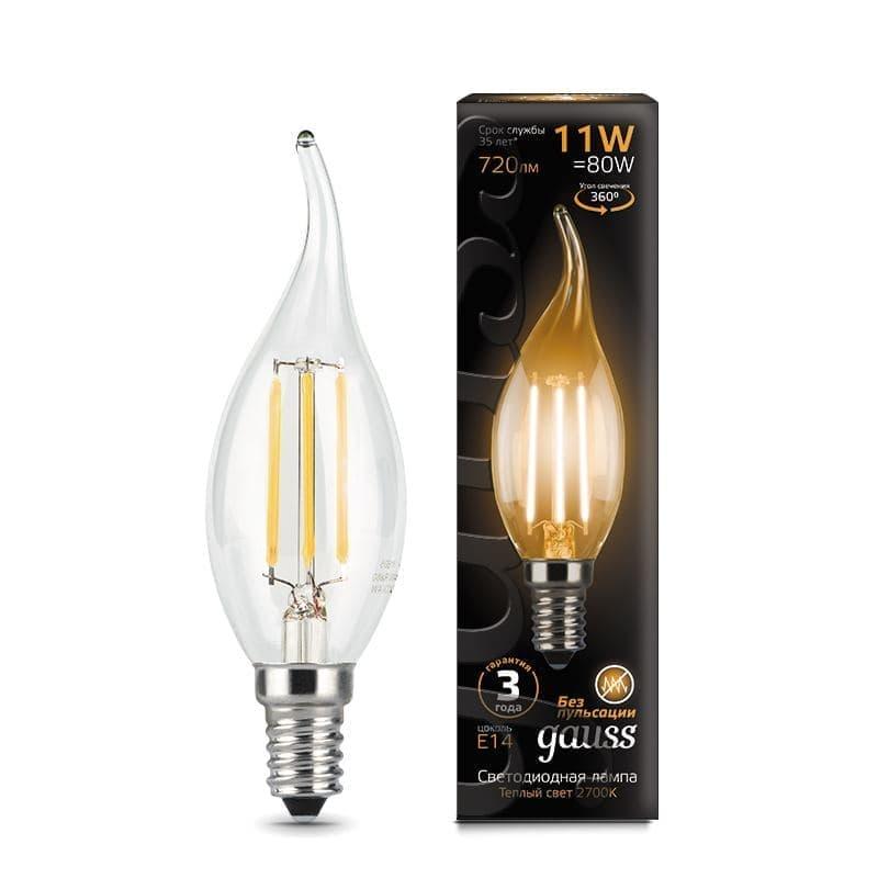 Комплект из 10 светодиодных ламп Gauss LED Filament Candle Tailed 11W E14 2700K 104801111