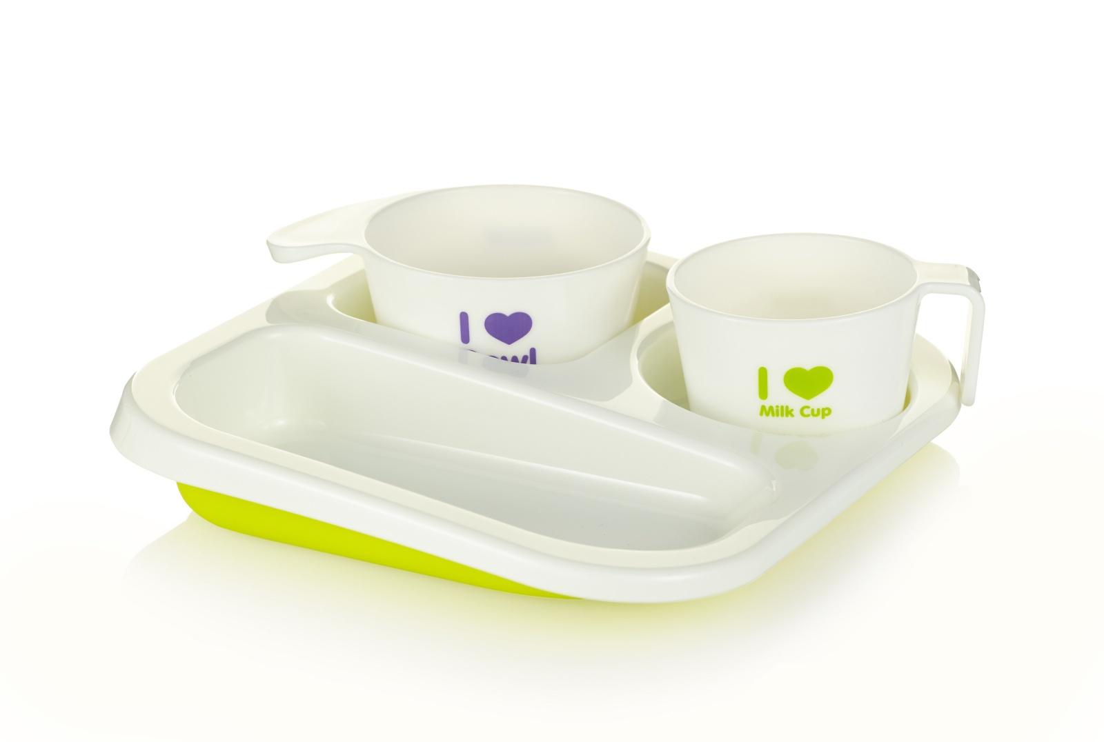 Набор посуды для кормления Farlin салатовый