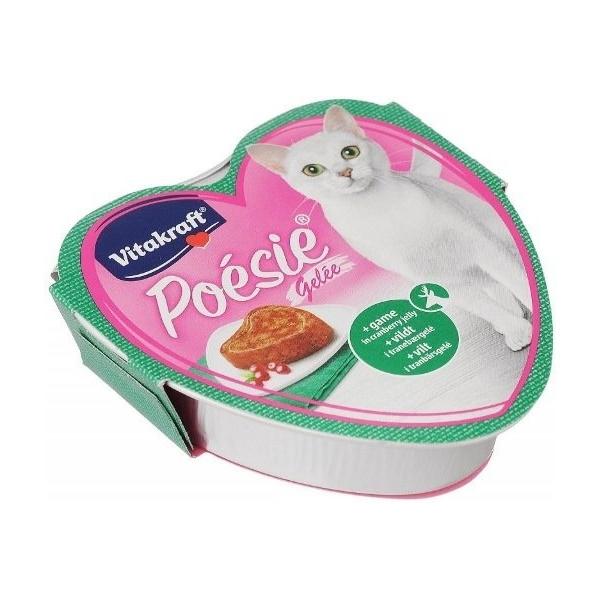 Консервы для кошек Vitakraft Poesie Gelei с лососем и дичью в желе 6шт по 85 г.