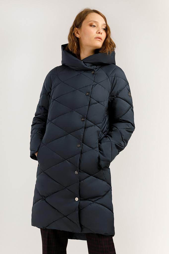Пальто женское Finn Flare A19-11024 синее XS фото