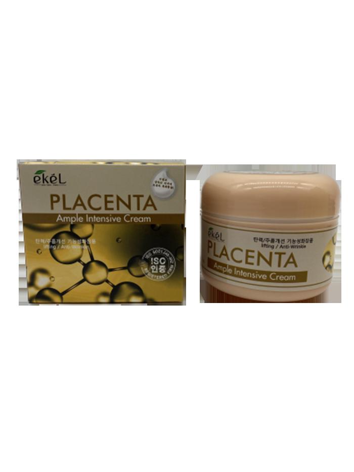 Купить Крем для лица с плацентой Ekel PLACENTA AMPULE INTENSIVE CREAM 100 гр