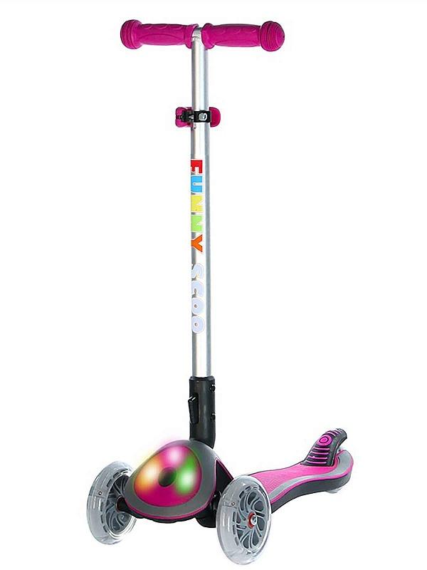 Самокат Funny Scoo Glow FL MS-945 розовый