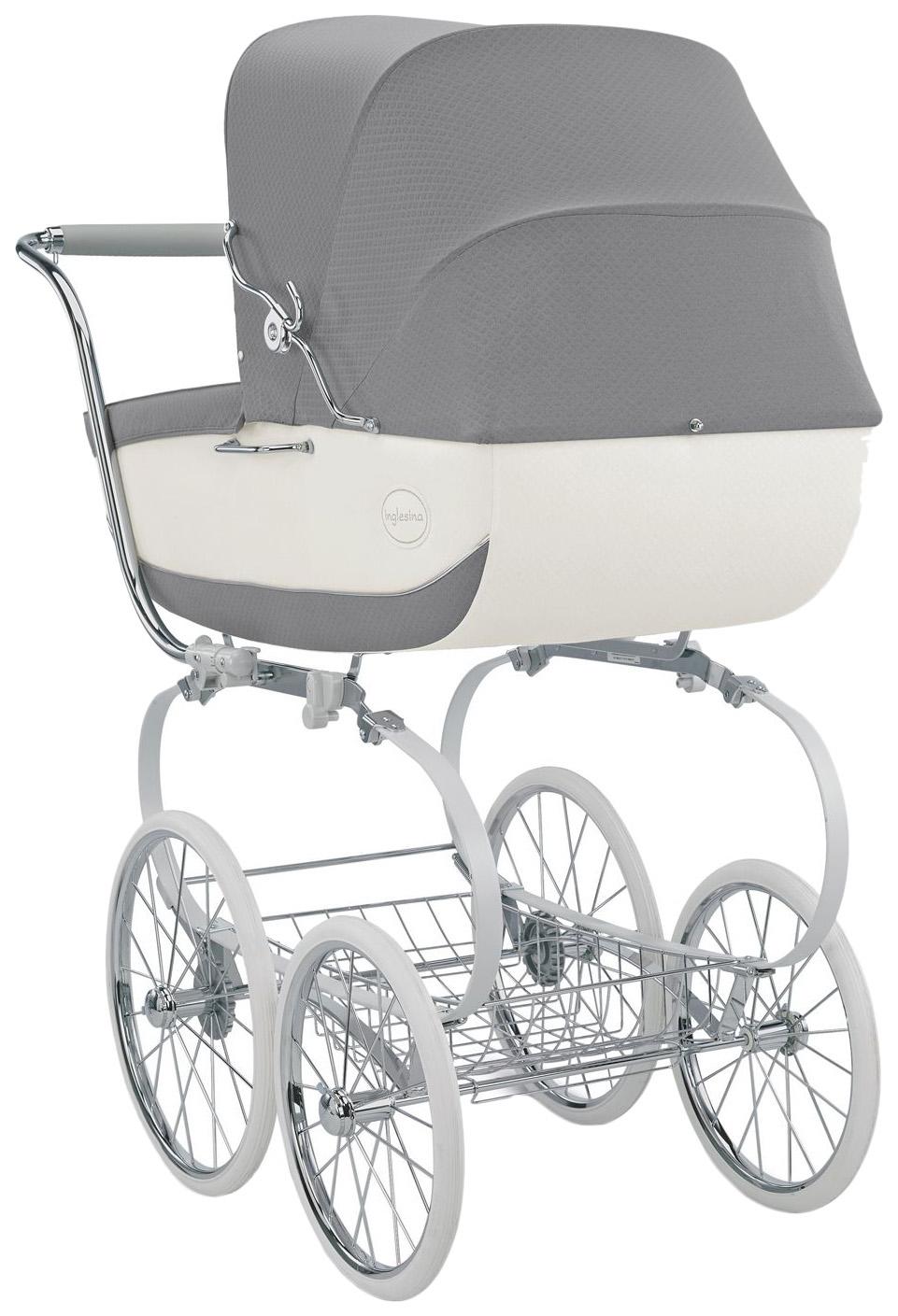 Коляска для новорожденного Inglesina Classica на шасси Balestrino Chrome White, Коляски для новорожденных  - купить со скидкой