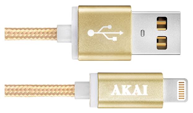 Кабель AKAI Lightning 1м Gold