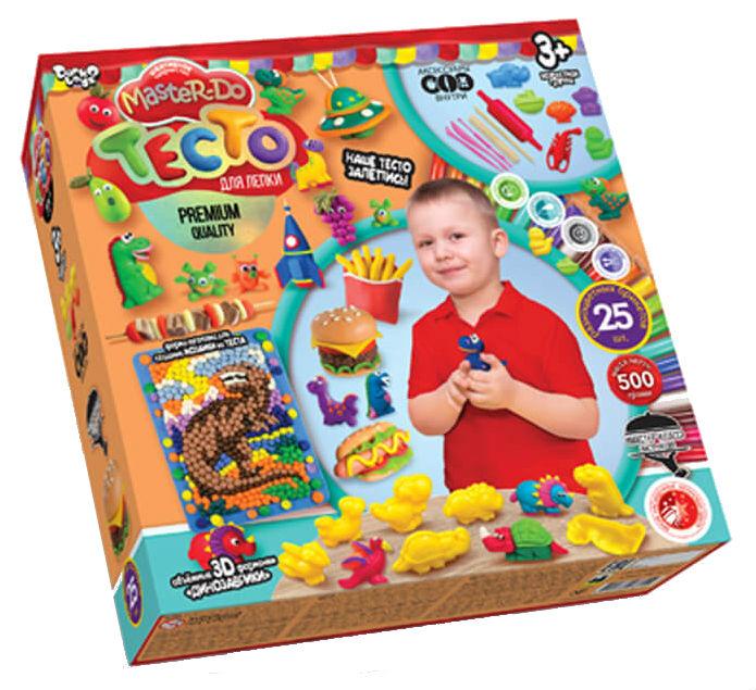 Купить Тесто для лепки master do, динозаврики, 25 цветов tmd-05-01 данко-тойс, Danko Toys, Лепка