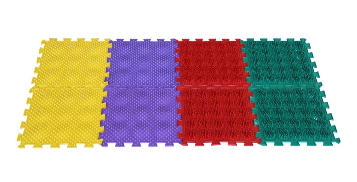 Купить Массажный коврик ОРТО ПАЗЛ, Микс Ежики , ОртоПазл, Развивающие коврики и центры