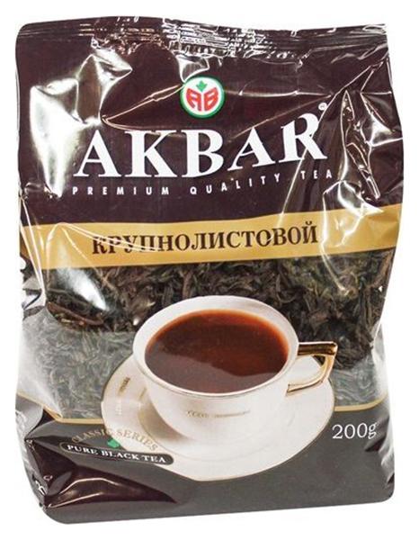 Чай черный Akbar байховый крупнолистовой классическая серия 200 г фото