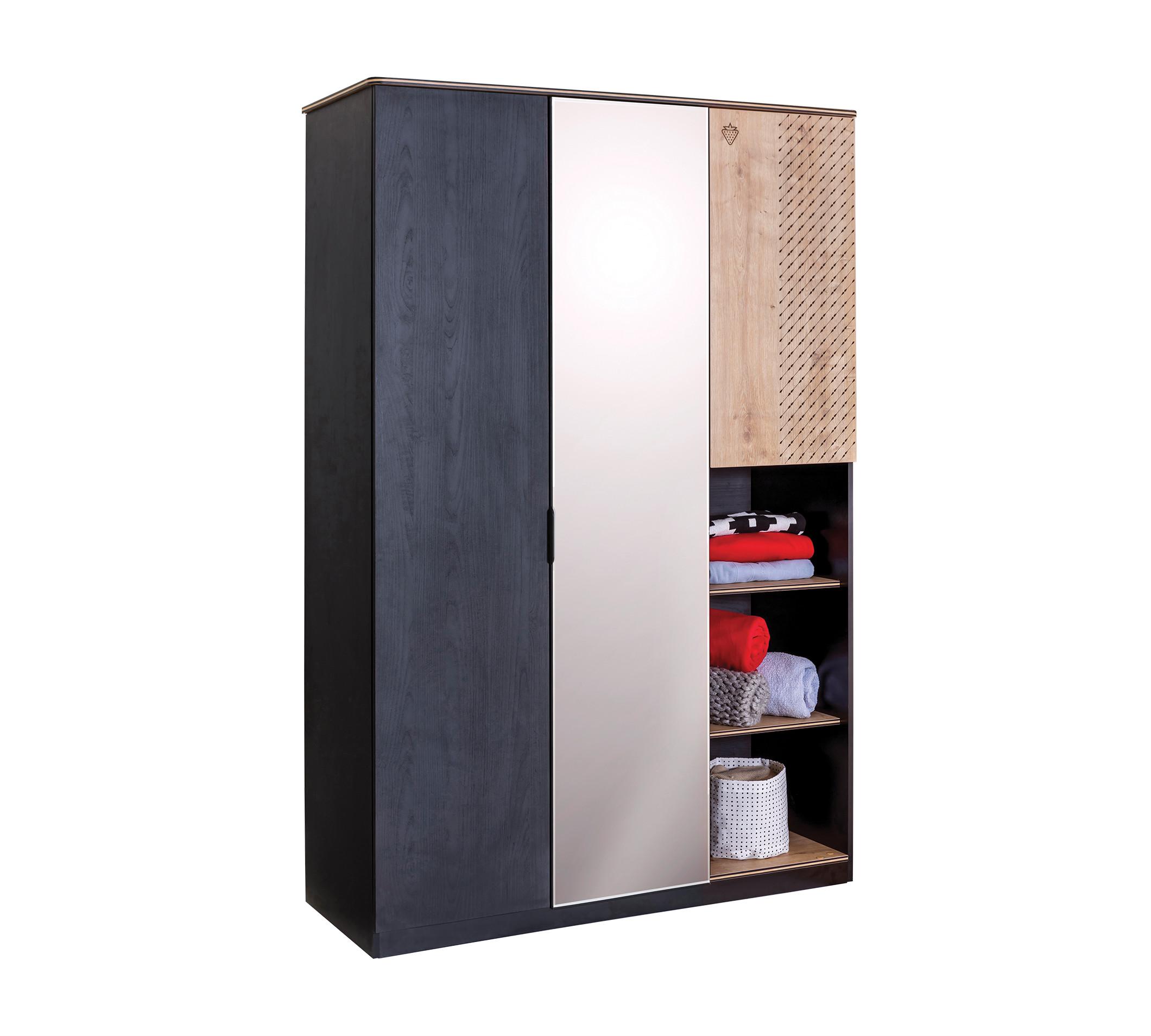 Купить Шкаф Cilek Black трехдверный, Шкафы в детскую комнату