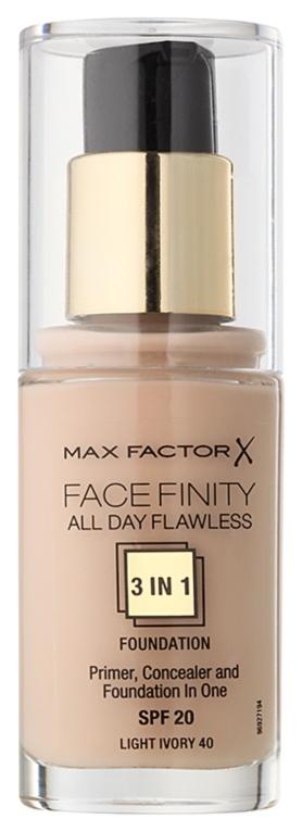Тональный крем Max Factor Face Finity All Day Flawless 3-in-1 тон 40 Light Ivory 30 мл