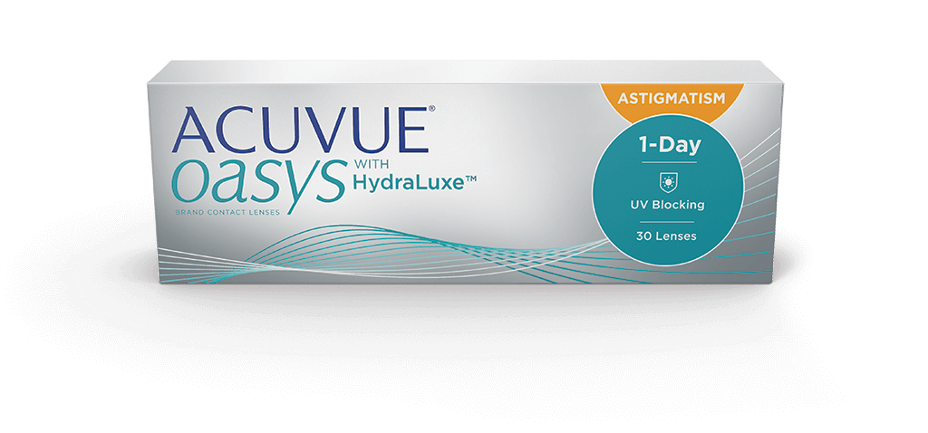 Контактные линзы Acuvue Oasys 1-Day with HydraLuxe for Astigmatism 30 линз -0,75/-1,25/10
