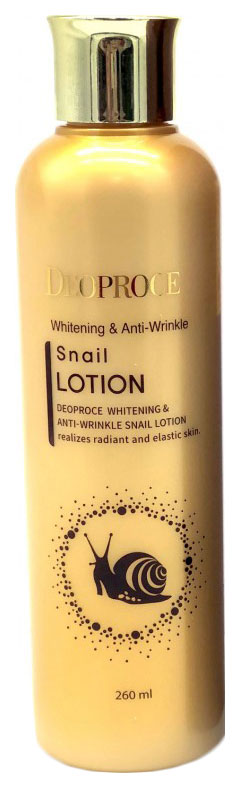Лосьон для лица Deoproce Whitening #and# Anti-Wrinkle Snail 260 мл