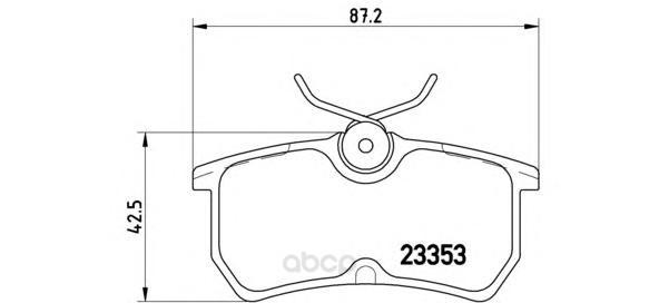 Тормозные колодки дисковые brembo P24047