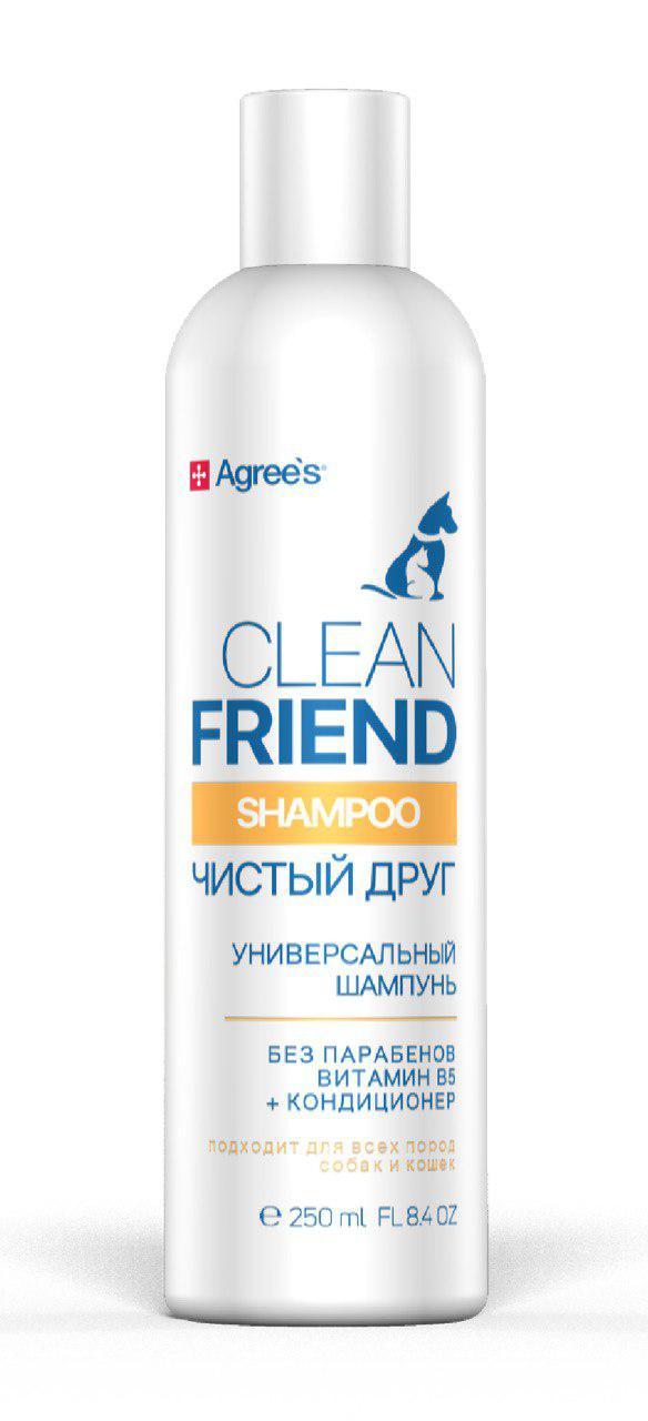 Шампунь-бальзам для кошек и собак Agree\'s for pets Clean friend, витамин В5, 250 мл