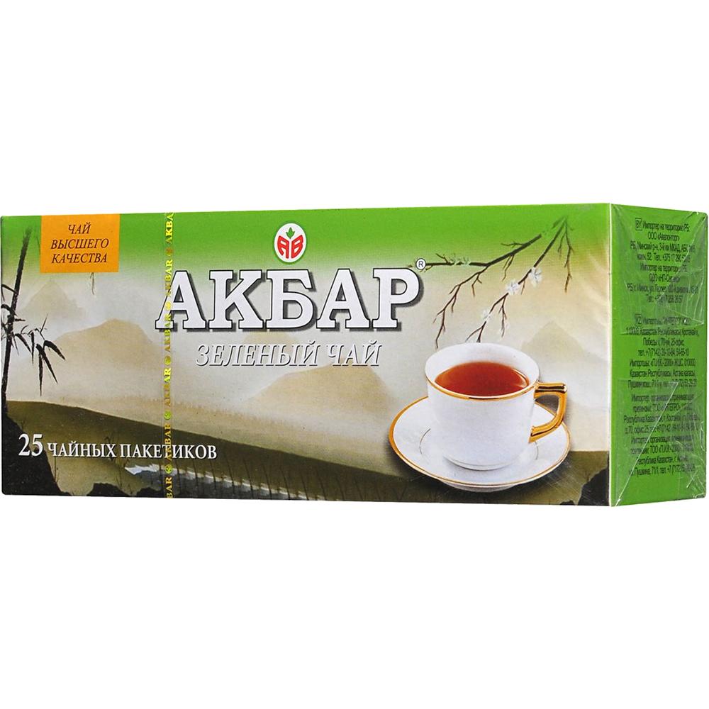 Чай Akbar зеленый 25 пакетиков фото
