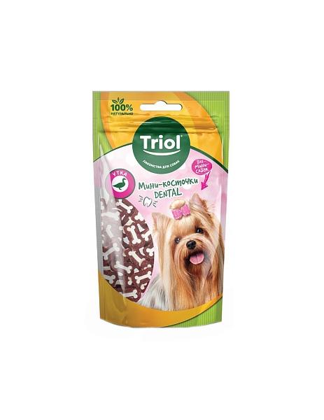 Лакомство для собак Triol Мини-косточки Dental для мини-собак Утка 50 г