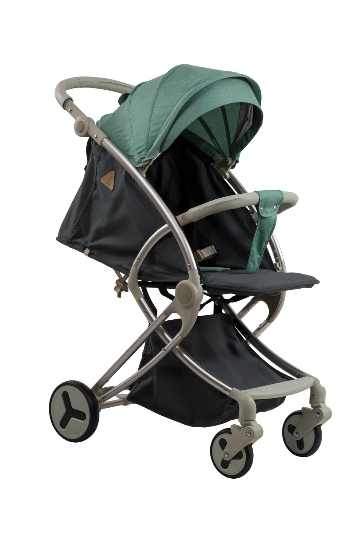 Купить Коляска детская прогулочная Aimile Summer Silver TM Farfello зелено-серый арт.FPG-6, Коляски книжки