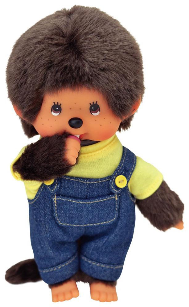 Мягкая игрушка Monchhichi 20 см Мальчик в комбинезоне и желтой футболке