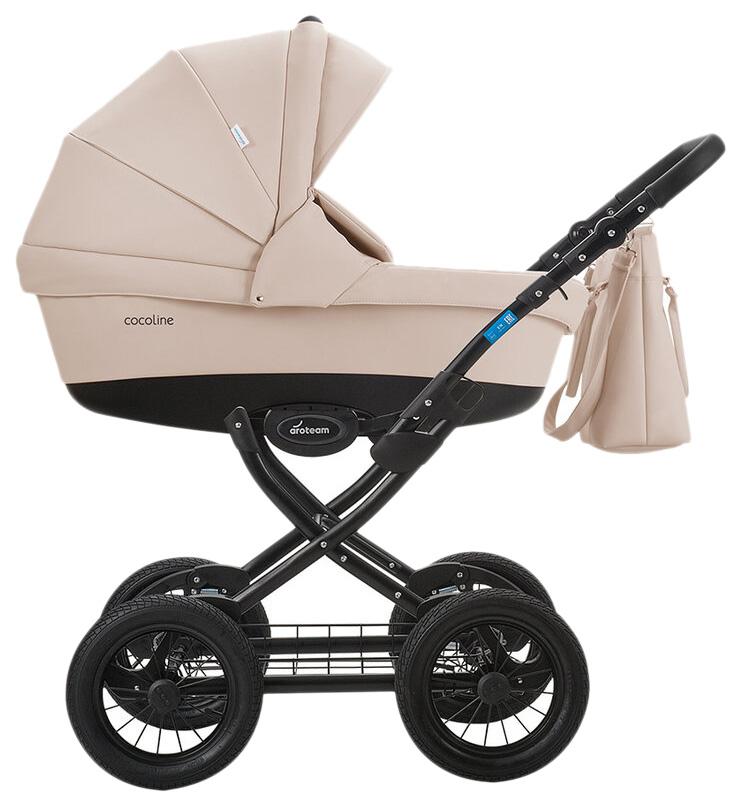 Купить Коляска 2 в 1 AroTeam Cocoline 18 Prima Светло-бежевая кожа УТ0010332, Детские коляски 2 в 1
